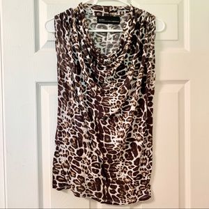 Zara Basic Evening Leopard Print No Sleeve Shirt